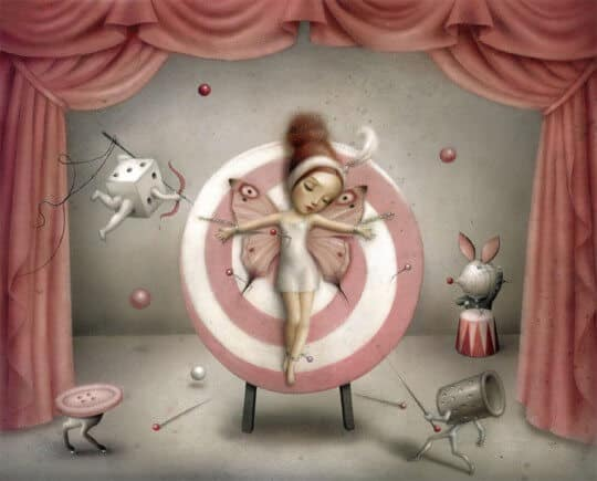 The magician's assistant (c) Nicoletta Ceccoli