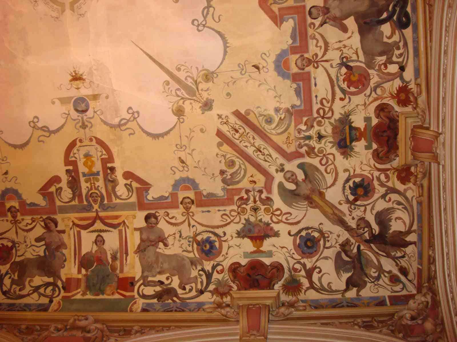 Detail plafond ontbijtzaal hotel Westminster (c) Srsck