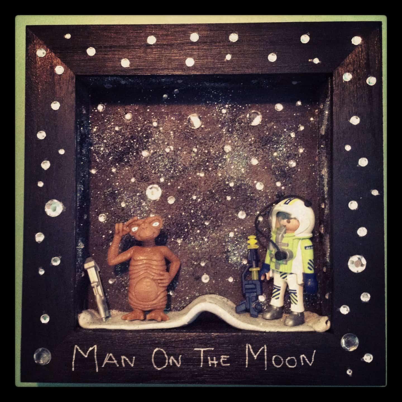Man on the moon (c) Moon & Wood