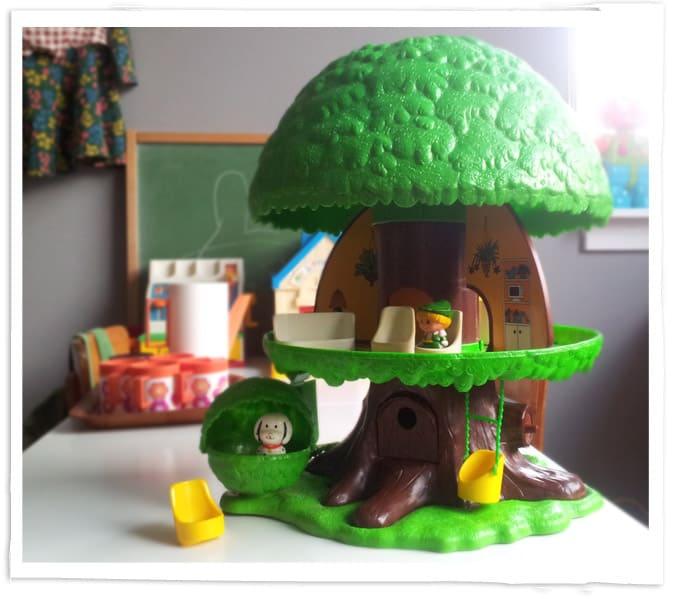 Speelgoed boomhuis jaren 70