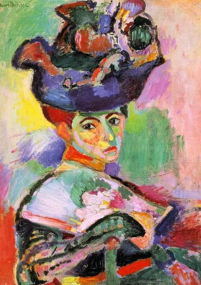 La femme au chapeau (c) Matisse, uit 1905