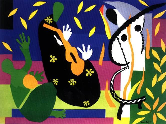 La tristesse du roi (c) Matisse, uit 1952