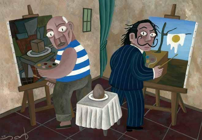 Picasso vs Dali (c) David Vela