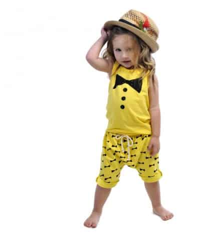 Bow print slouch shorts (c) Rock Your Baby