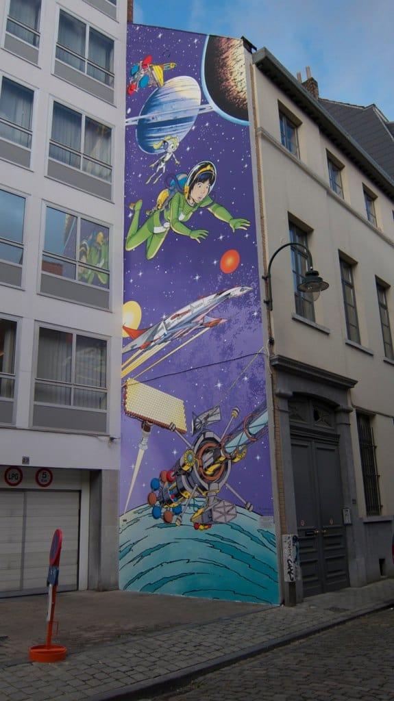 Yoko Tsuno op de muur (c) Den Flater