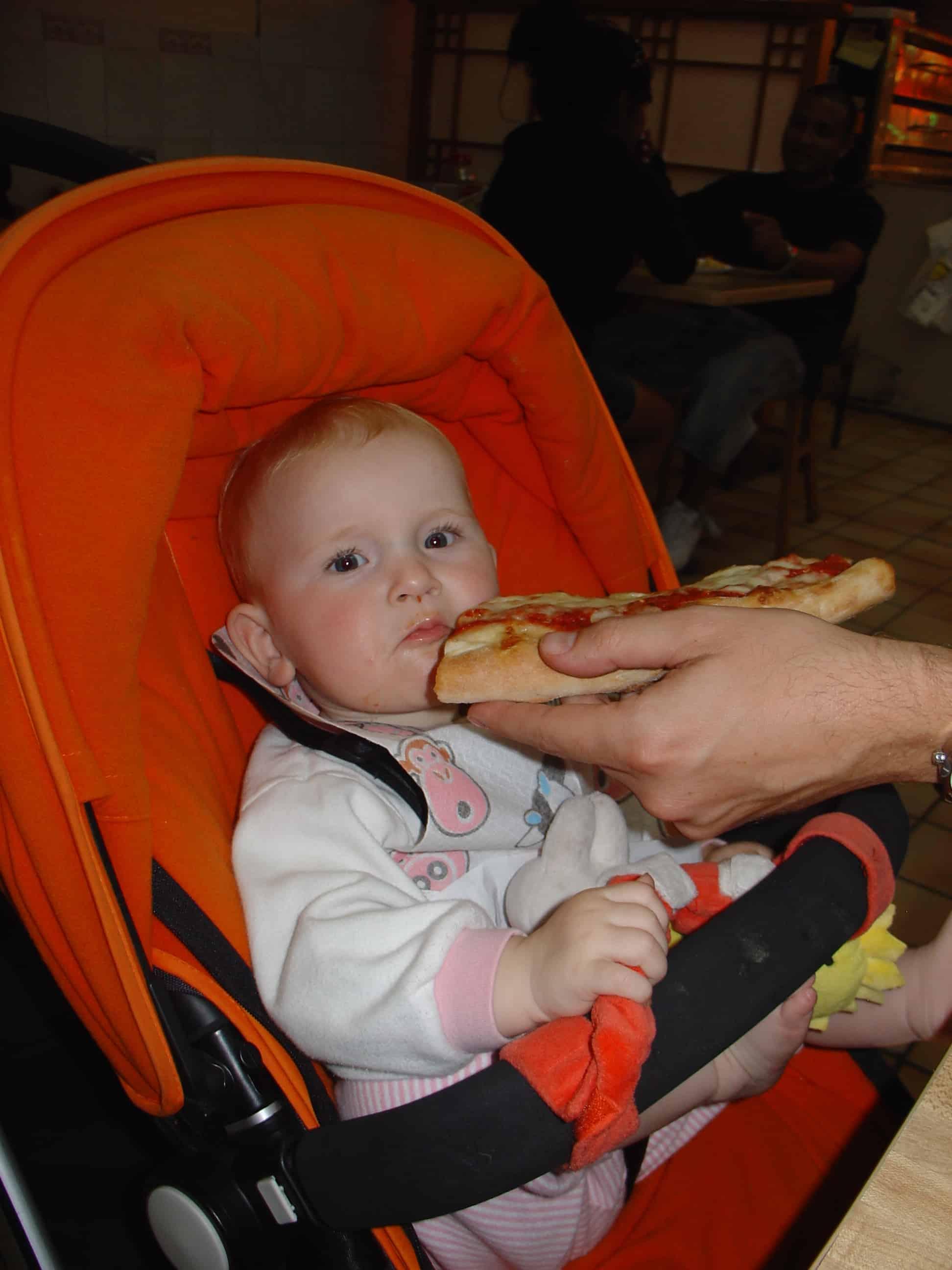 Een pizza slice mag niet ontbreken!