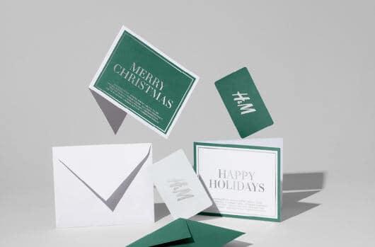 H&M kaart voor kerst