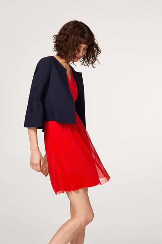 esprit rode jurk