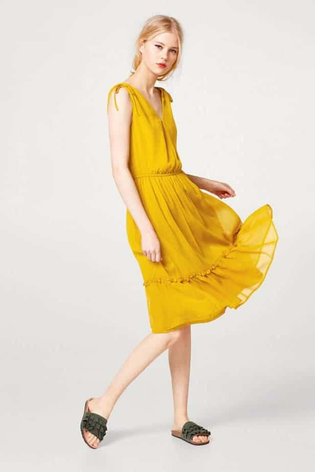 Esprit gele jurk