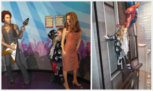 Lenny Kravitz, me and Jennifer Lopez, Madame Tussaud (c) srsck. Spiderman saves me (c) srsck