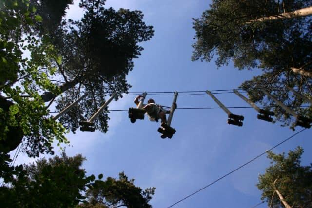 Lekker klimmen en klauteren (c) Acrobois via pilat-tourisme.fr