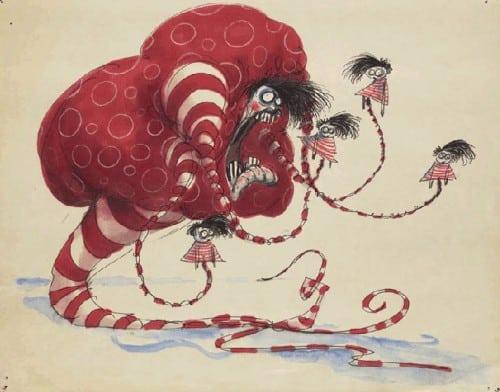 """Een van de tekeningen van Burton """"untitled"""" (true love) (c) T. Burton via Image via MoMA"""