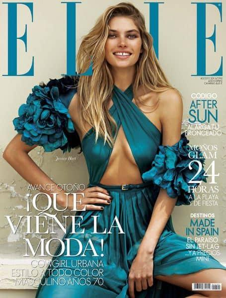 Jessica Hart voor de Spaanse Elle
