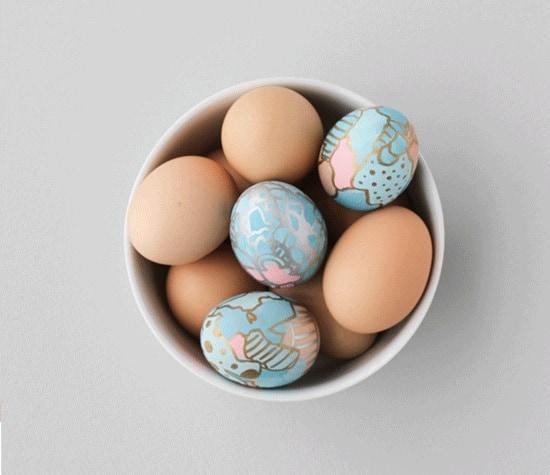 Kunst op een ei (c) Brittni Mehlhoff for Paper & Stitch