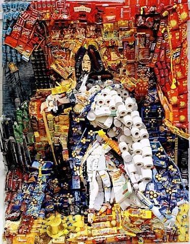 Lodewijk XIV als recycle kunst (c) Bernard Pras