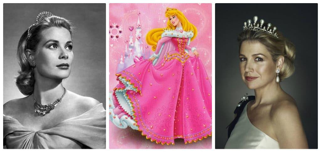 Van links naar rechts: Maxima door Erwin Olaf, Doornroosje en Grace Kelly