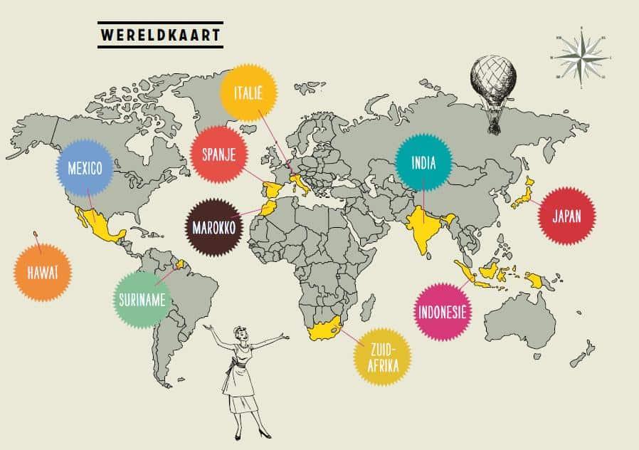 Wereldkaart uit Wereldeters