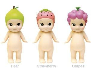 Drie Sonny Angels uit de fruit serie