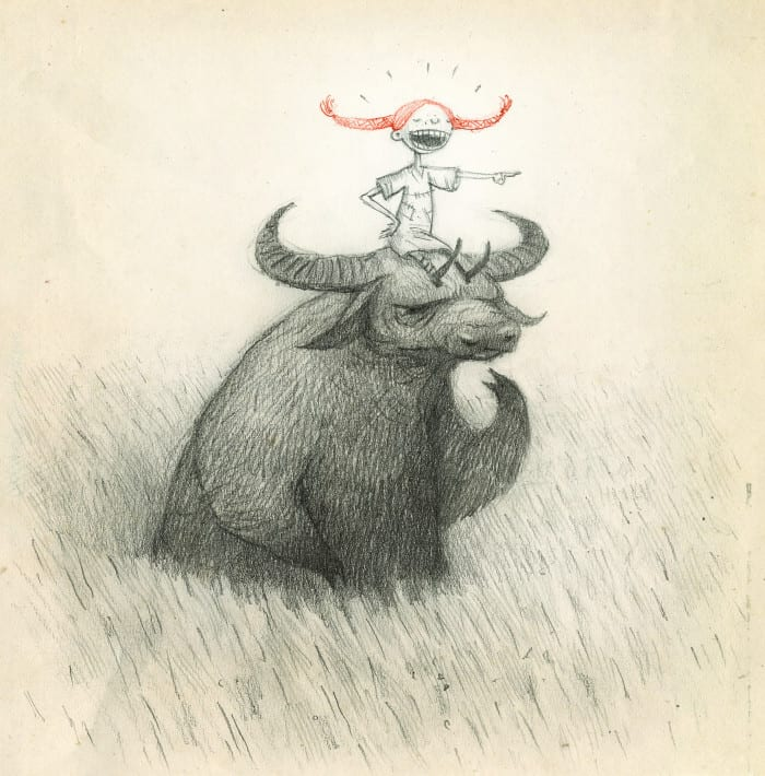 Illustratie door ALMA winnaar 2011 Shaun Tan (gedoneerd aan het nationaal museum van Stockholm)