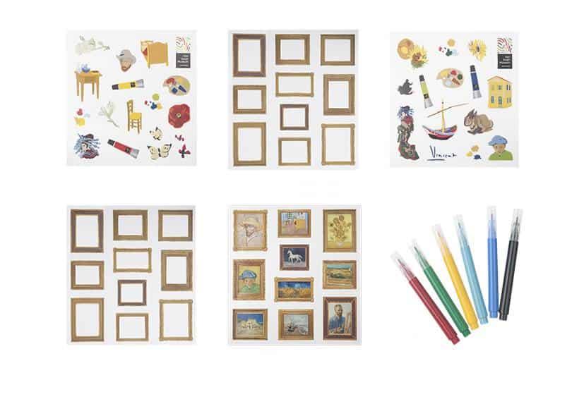 Van Gogh stickers en lijstjes