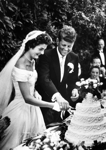 JFK en Jackie op hun trouwdag