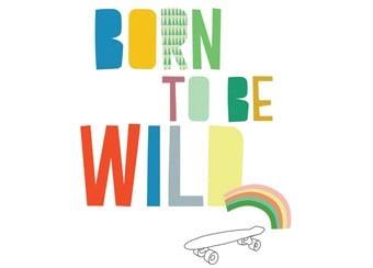Born to be wild muursticker van MIMI'lou via De Kleine Zebra