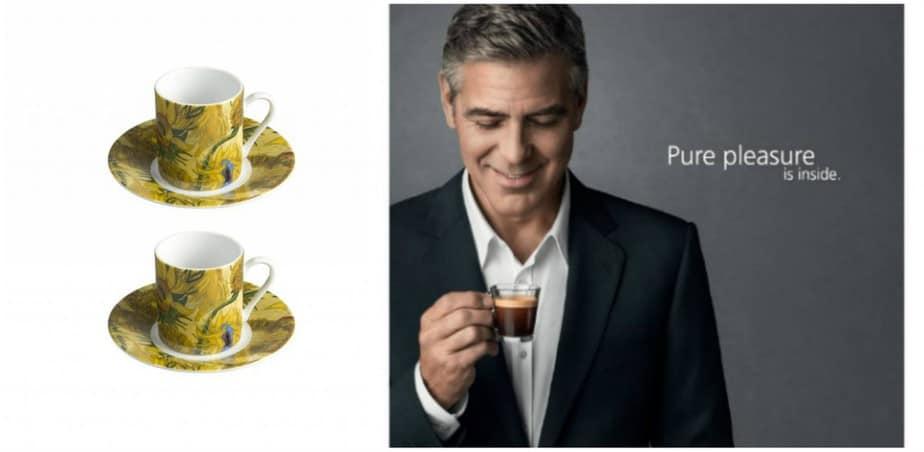 George Clooney voor Nespresso, Van Gogh kopjes
