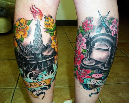 mom en dad tattoo