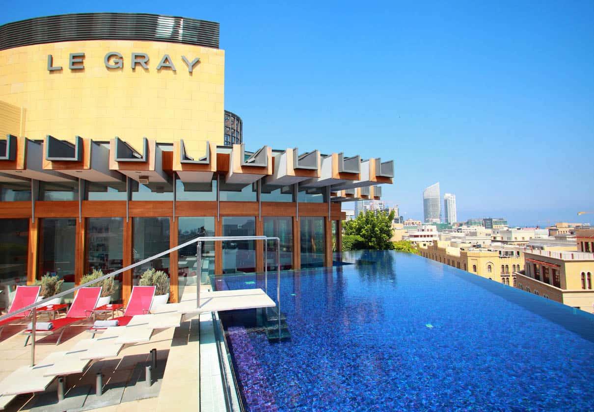 Le Gray hotel zwembad op het dak
