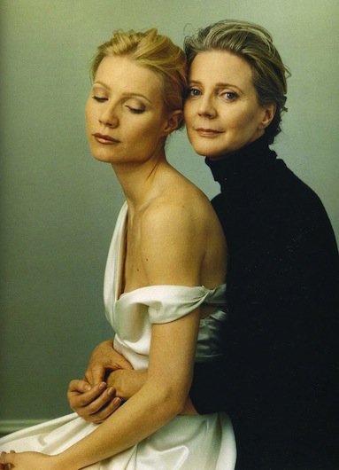 Prachtige foto van Gwyneth met haar moeder