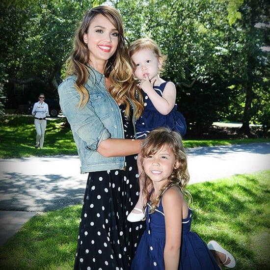 Super mama met mooie dochters