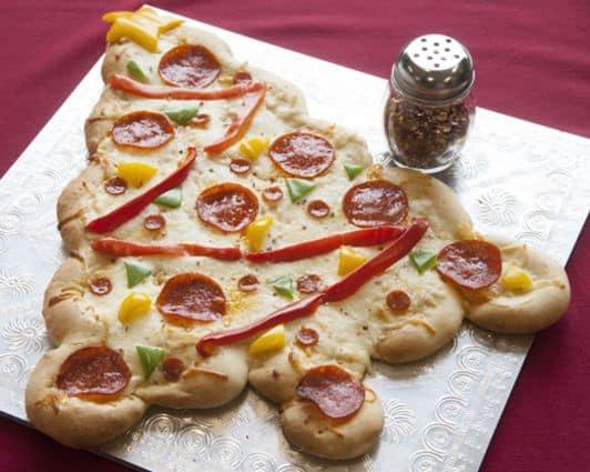 Pizza kerstboom (c) Rhodes Bread