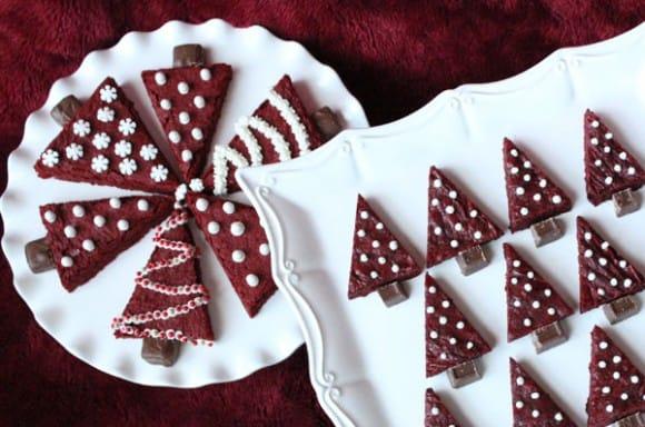 red velvet kerst brownies