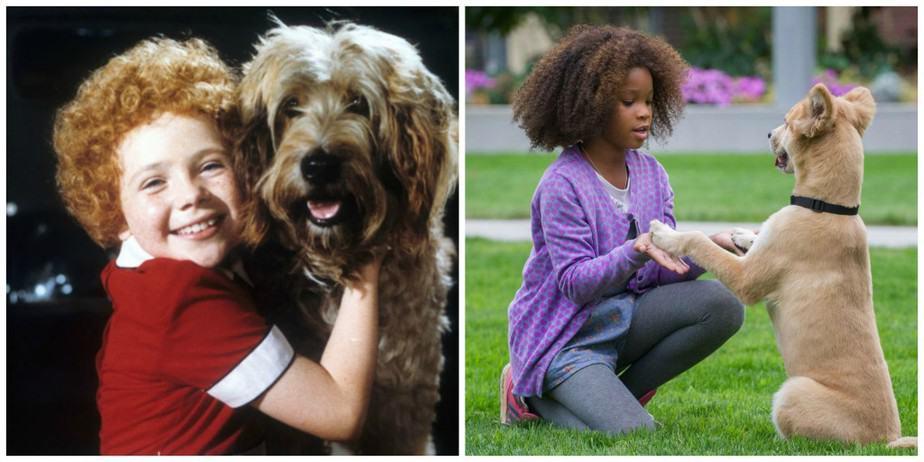 Annie en Sandy - eerst en nu