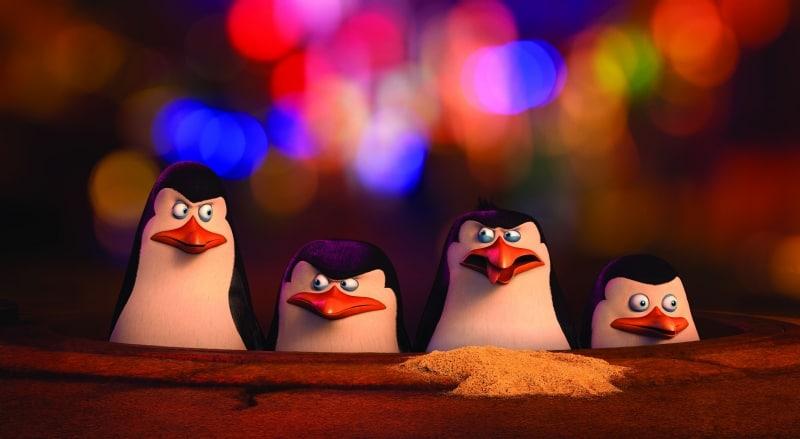 Van links naar rechts: Kowalski, Skipper, Rico, Junior