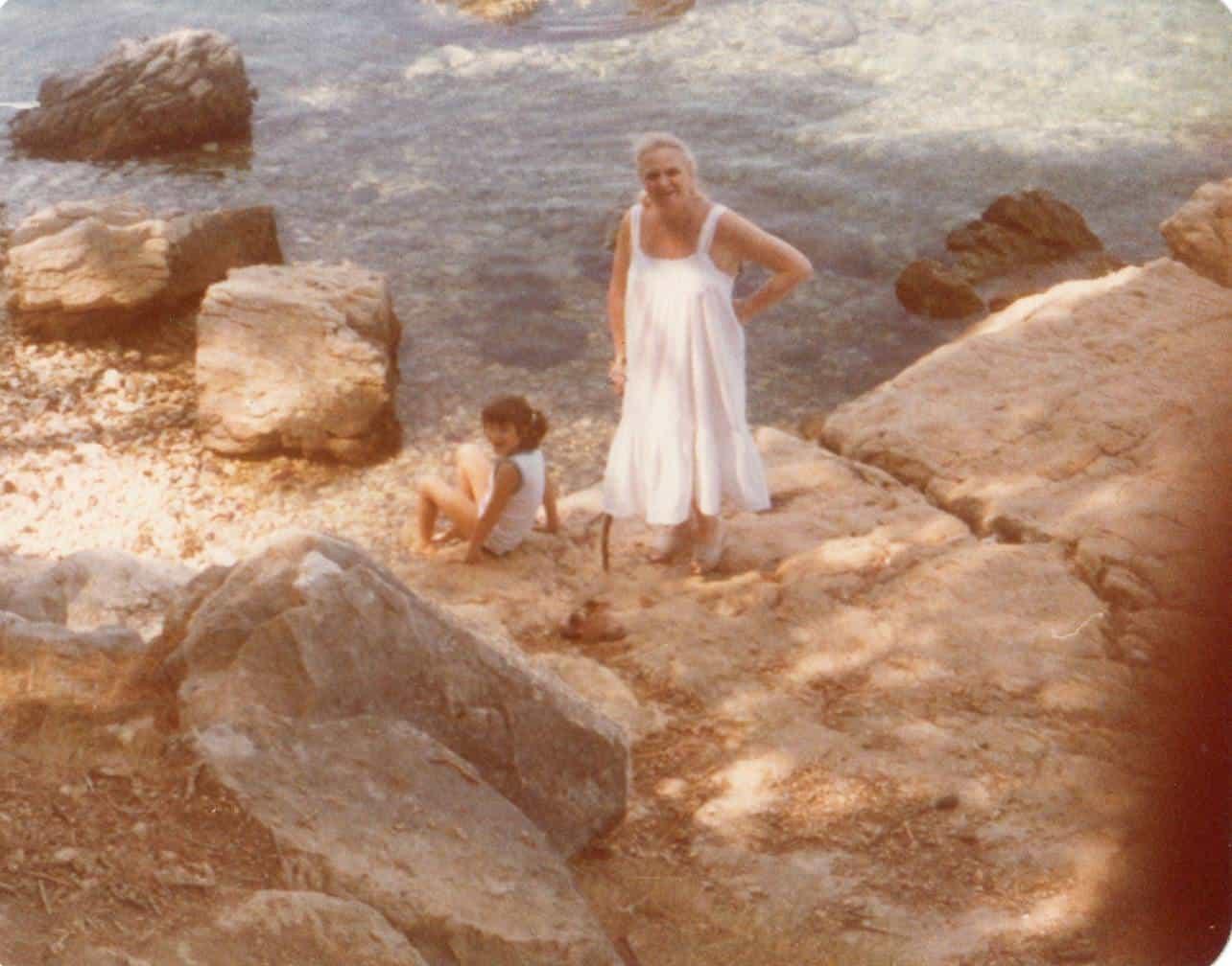 Begin jaren '80 in Joegoslavië met mijn oma