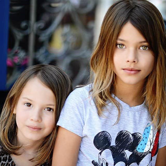 Laneya met haar zusje Kay via Insta