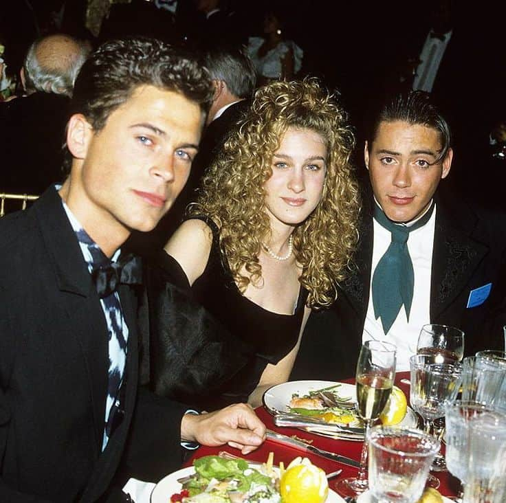 Rob Lowe, Sarah Jessica Parker en Robert Downey Junior in 1988