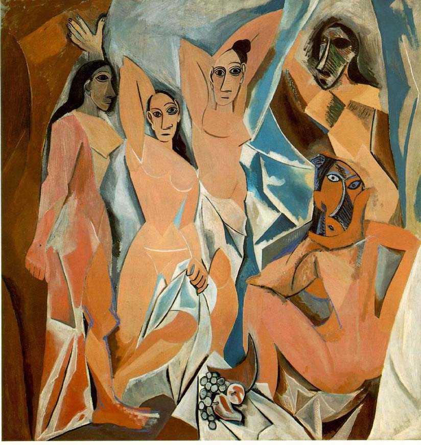 Les Demoiselles d'Avignon, Pablo Picasso,