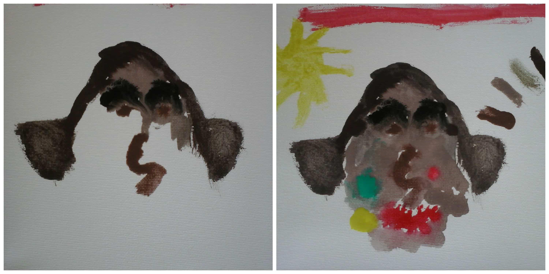 Portret van mij 'Picasso-stijl' door Krumlov