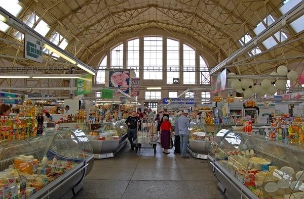 De markthallen in Riga