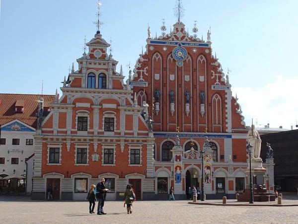 het huis van de zwartkoppen in Riga