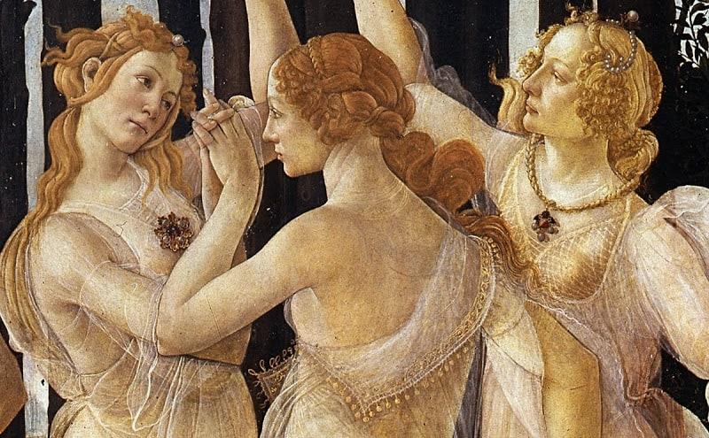De drie gratiën van Botticelli