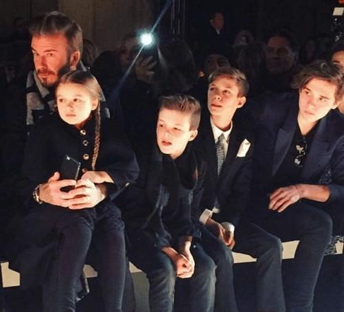 Front row Beckhams