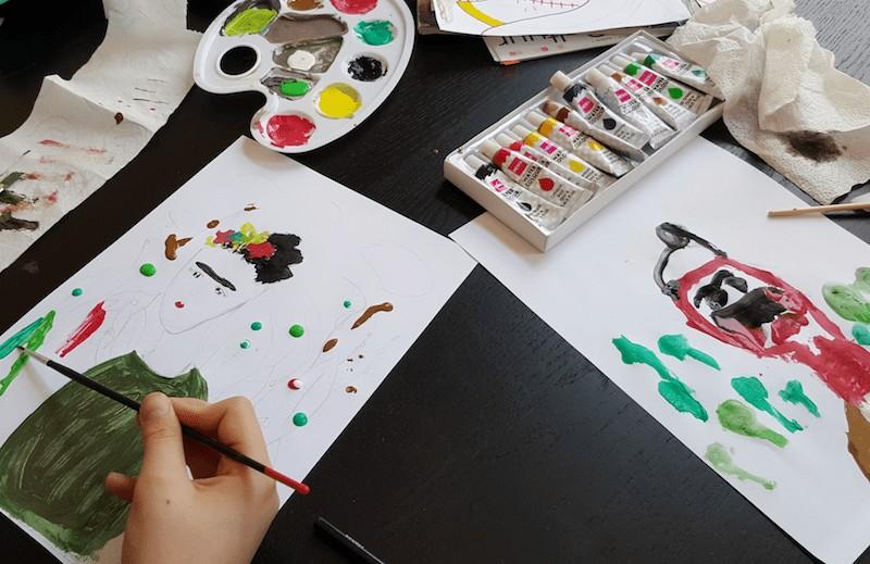 Frida schilderen