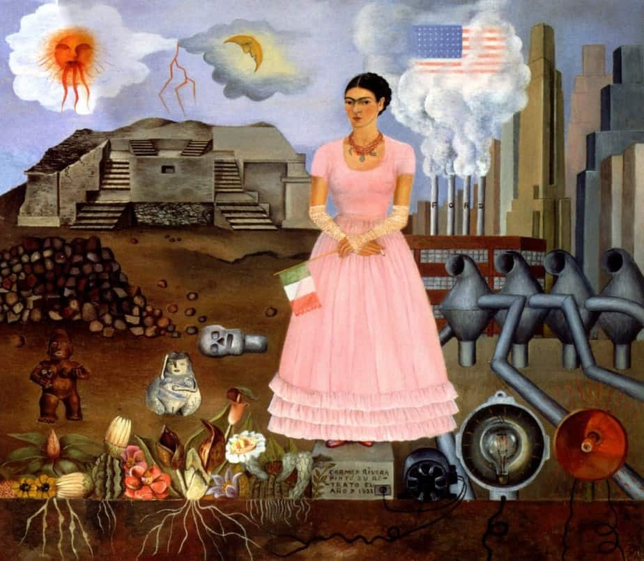On the boarder Frida Kahlo
