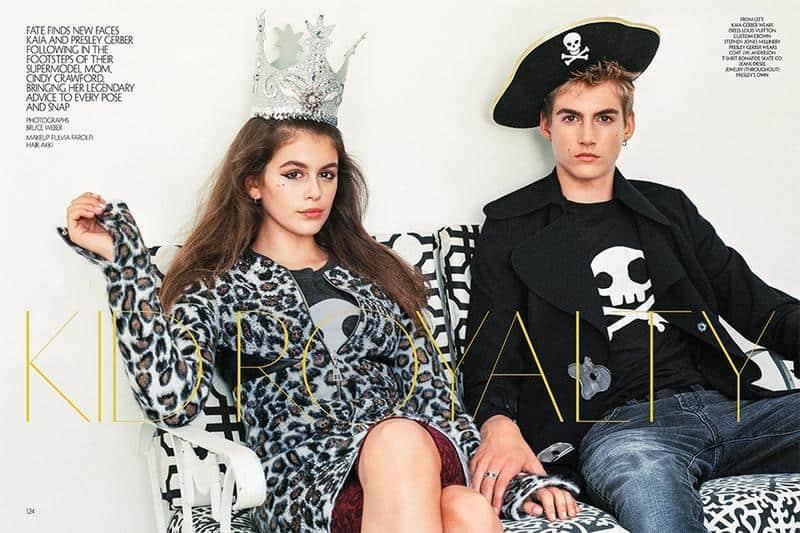 Met broer Presley voor CR Fashion Book (c) Bruce Weber