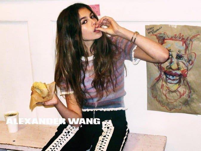 Kaia Gerber voor Wang