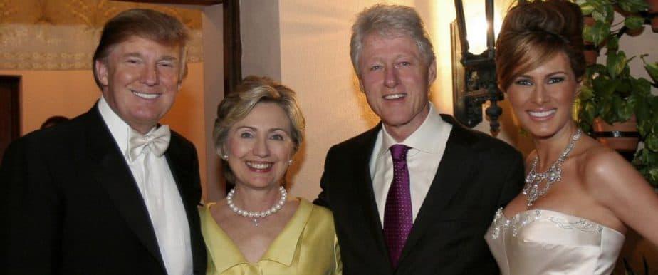 Trump en Clinton