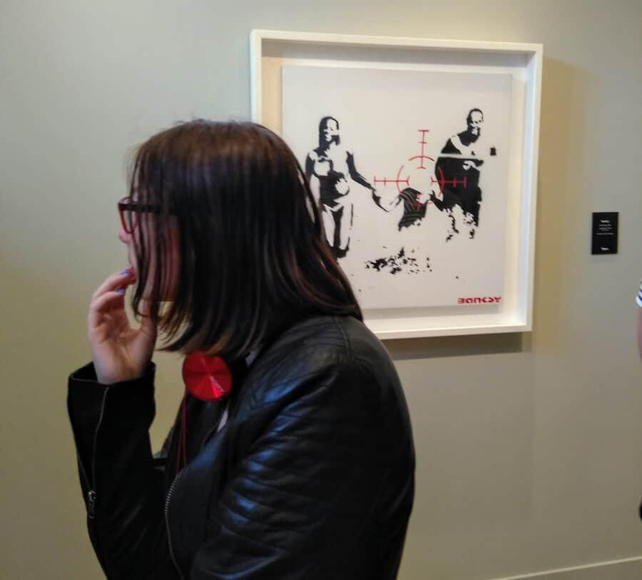 Banksy in het Moco Museum met de kids